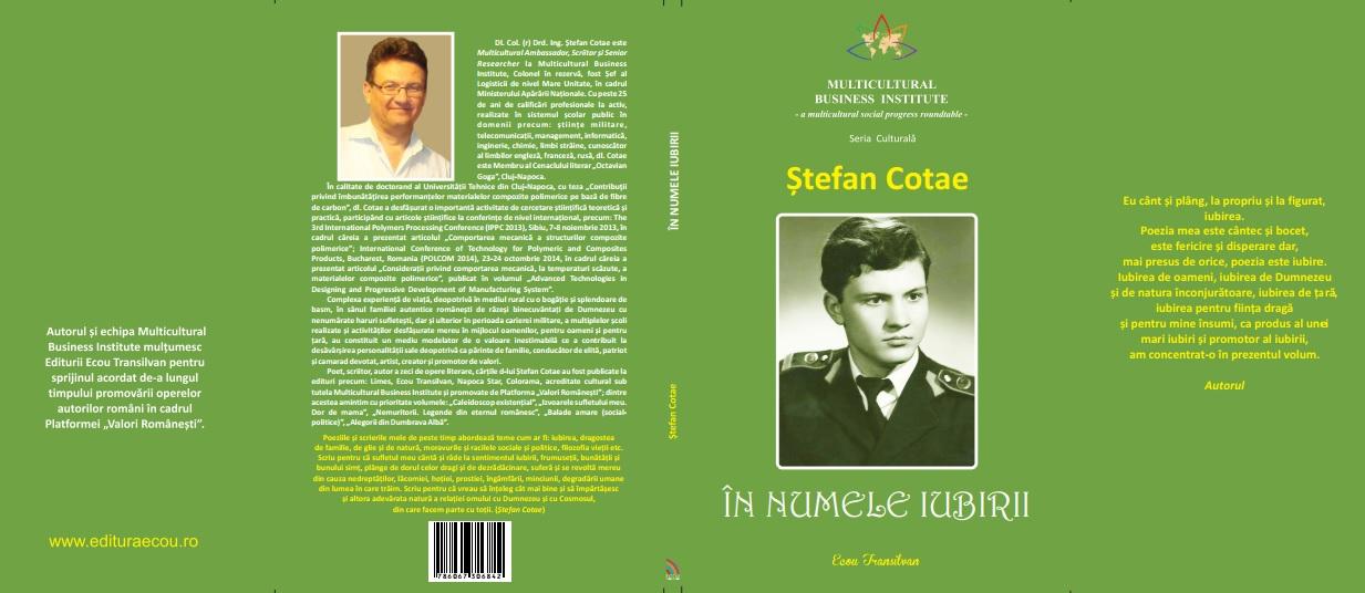 Coperta Ștefan Cotae-În numele iubirii
