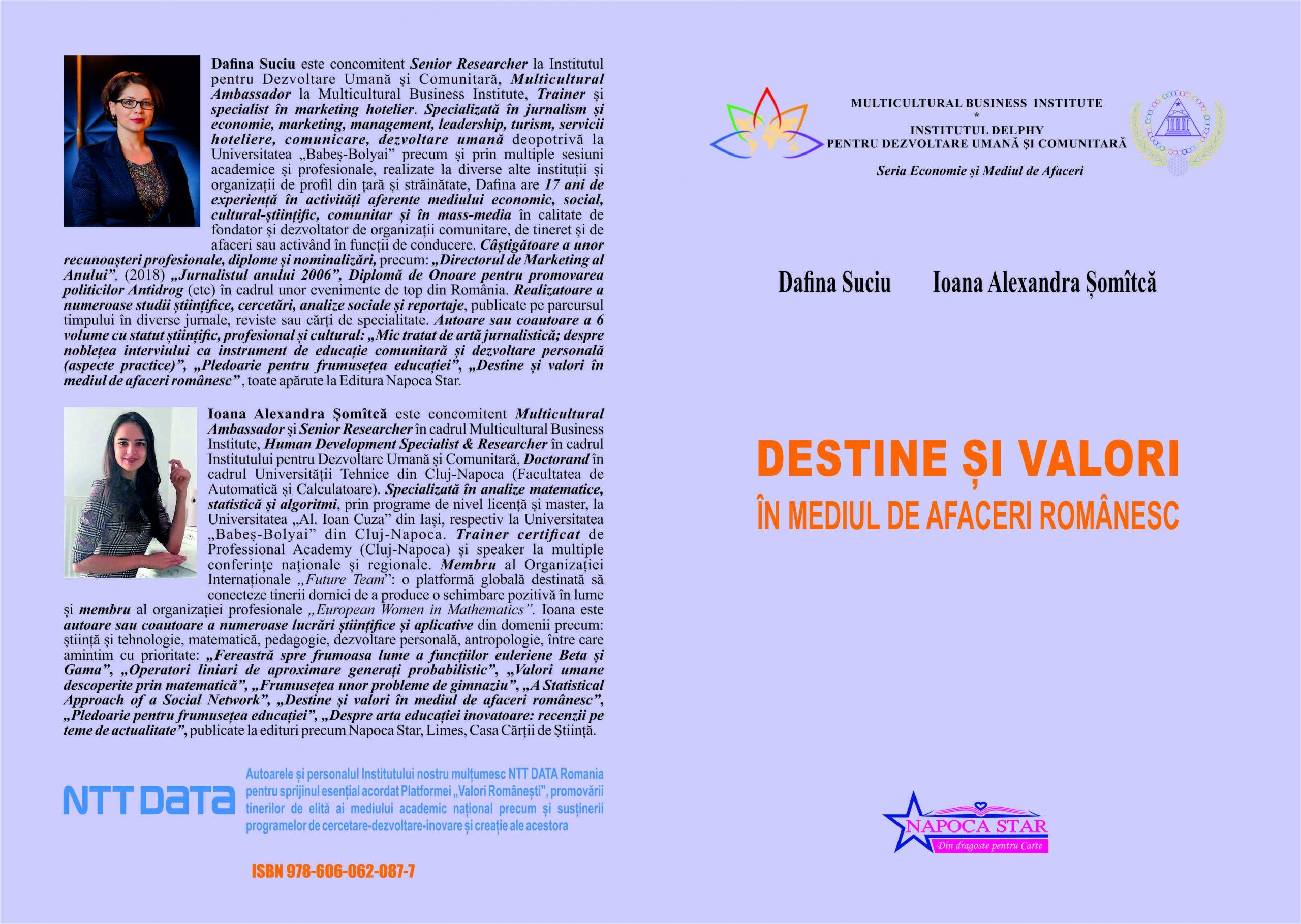 Destine si valori în mediul de afaceri - Dafina și Ioana
