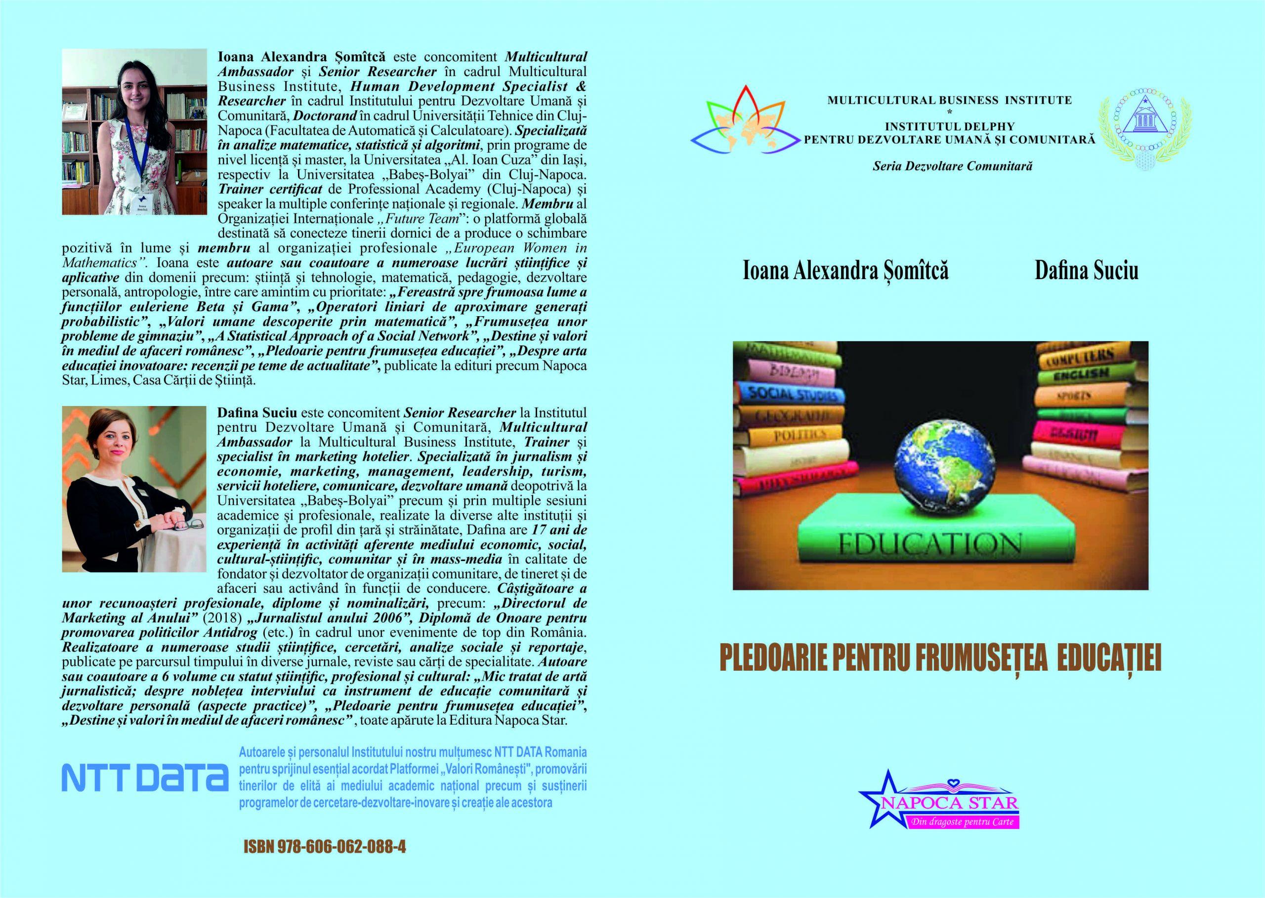 Pledoarie pentru frumusețea educației - Ioana și Dafina