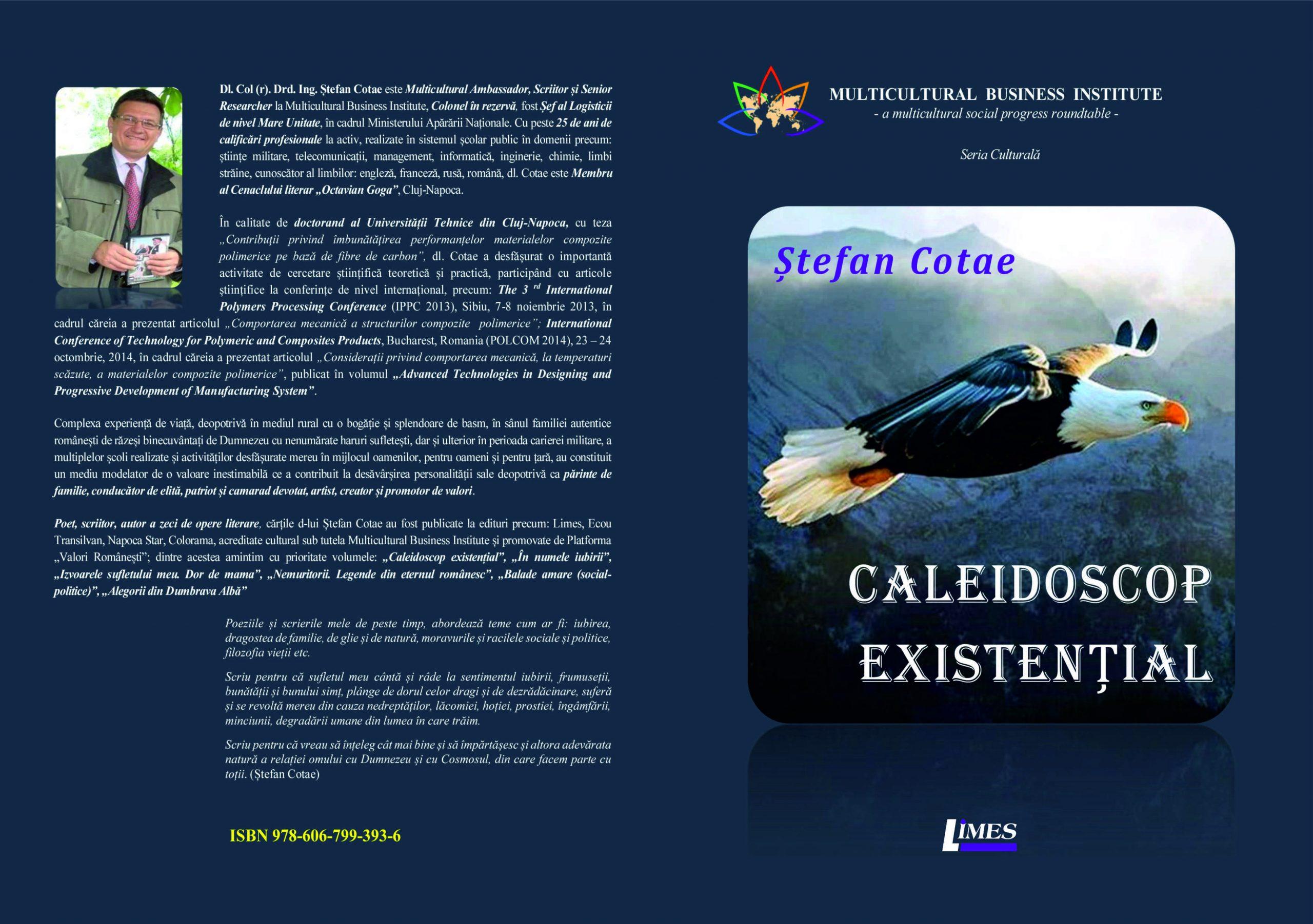 Coperta Caleidoscop existențial - Ștefan Cotae