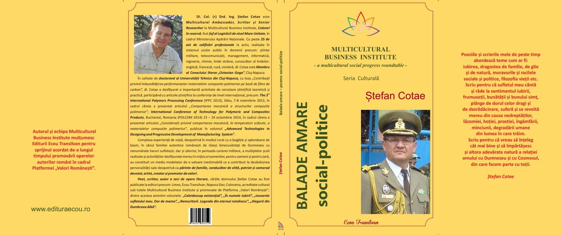 coperta completa Ștefan Cotae-Balade Amare-clapete