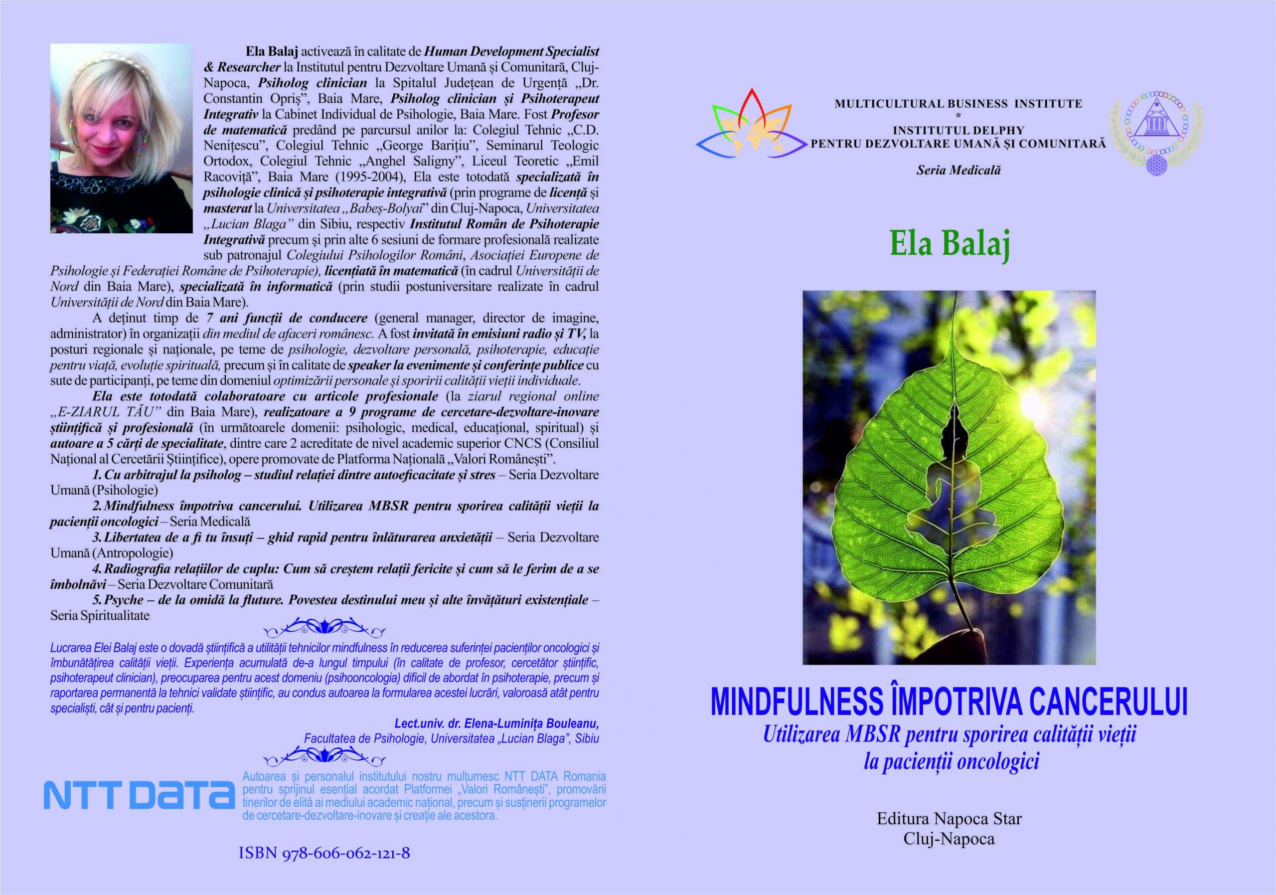 Mindfulness împotriva cancerului - Ela Balaj